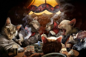 NICOLESHENTING-Cats-Playing-Poker-Cards-Art-Silk-Fabric-Poster-Canvas-Print-13x20-24x36inch-Funny-Pictures-Home.jpg_640x640